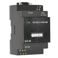 Преобразователи интерфейсов Автоматический преобразователь интерфейсов RS-232/RS-485 ОВЕН АС3-М, фото