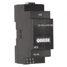 Преобразователи интерфейсов Автоматический преобразователь интерфейсов USB/RS-485 ОВЕН АС4, фото